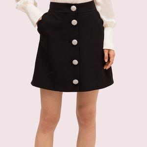 Black Scalloped Pocket Skirt